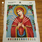 Icons embroidered with Czech beads Lviv