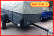 Buy uniaxial passenger trailer 200 * 130 * 46 from the factory in installments 0% Ромны