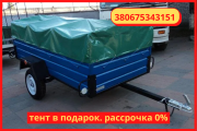 Uniaxial trailer 210 * 130 * 46 from the factory. Delivery. Installment plan without% Глухов