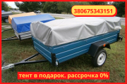 Uniaxial passenger trailer 220 * 130 * 46 from the factory in installments 0%. Конотоп