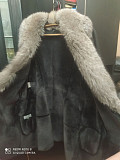 Selling a very beautiful sheepskin coat, with chic silver fox fur Zaporozhe